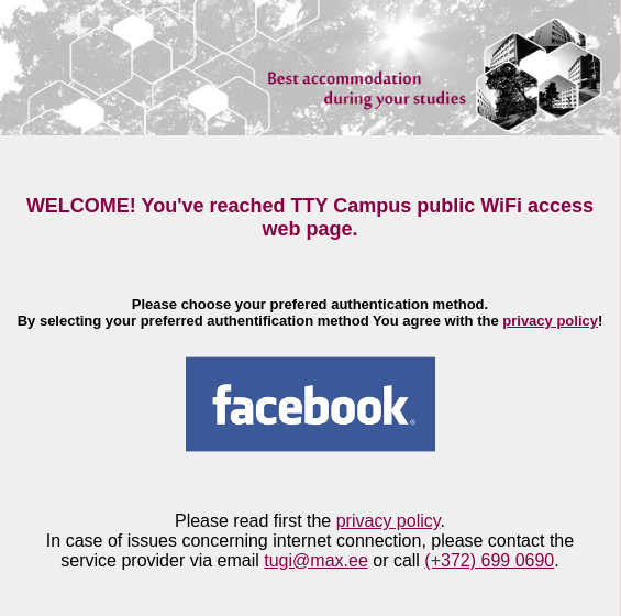 TalTech Guest Campus WiFi fail